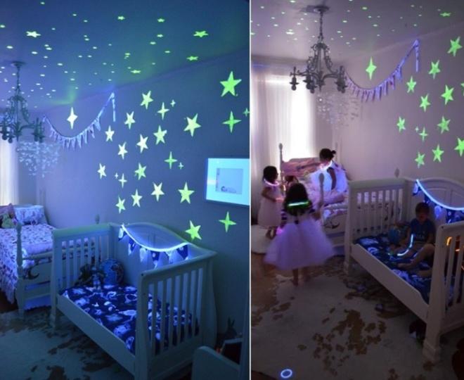 Светящиеся обои для детской