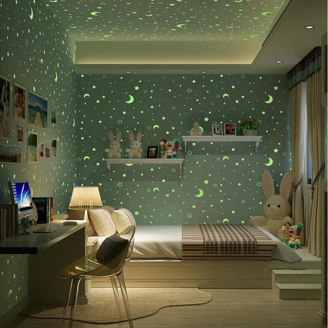 Светящиеся обои в других комнатах