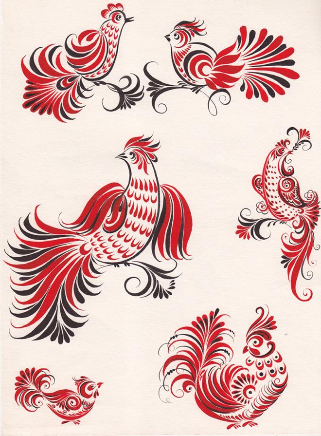 Основные особенности хохломской росписи