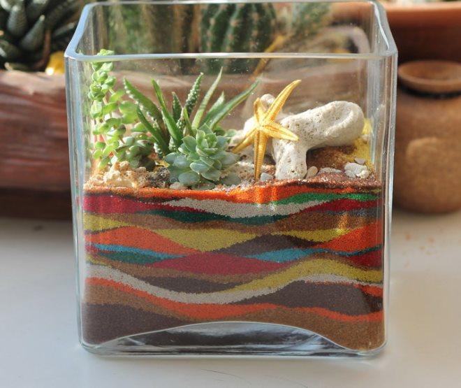 Песок для флорариума