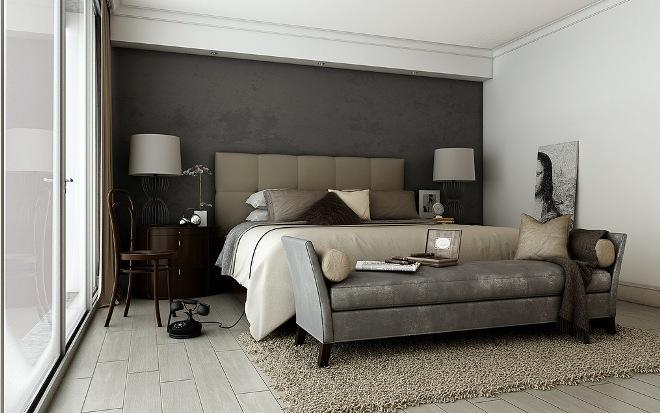 Сочетание серой мебели и текстиля в интерьере