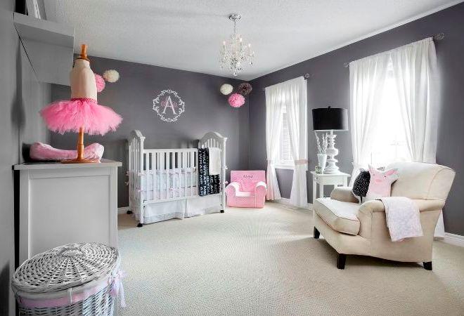 Серый цвет в детской комнате