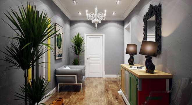 Серый цвет в прихожей и коридоре