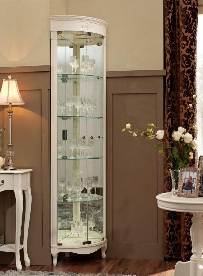 Шкафы-витрины со стеклом для гостиной