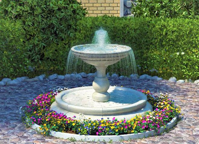 Стационарный фонтан для тех, кто предпочитает красоту