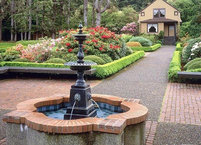 Виды фонтанов для ландшафтного дизайна участка