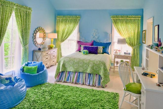 Цветовая палитра штор для девочки