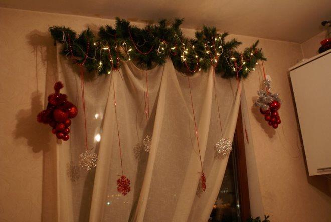 Новогодний декор штор