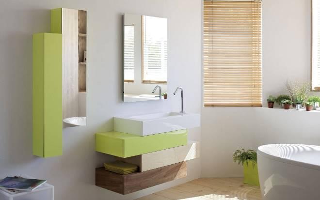 Стилистика шкафчиков в ванную
