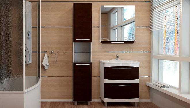 МДФ и ламинированные шкафы в ванную