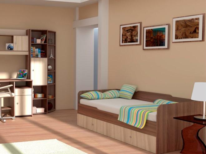 Мебель цвета ясень шимо в интерьере