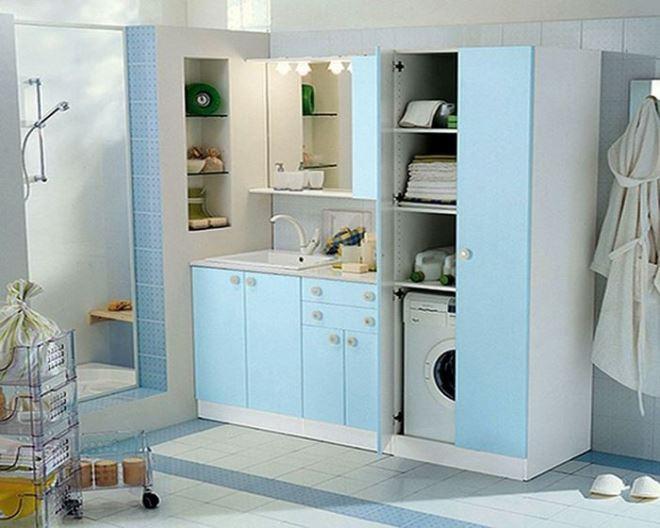 Металлические шкафы в ванную