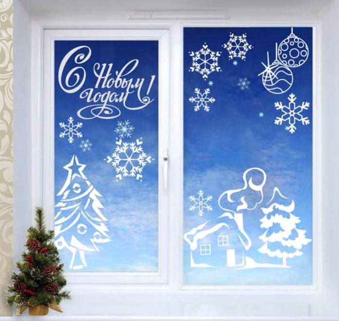 Красивые надписи на окнах