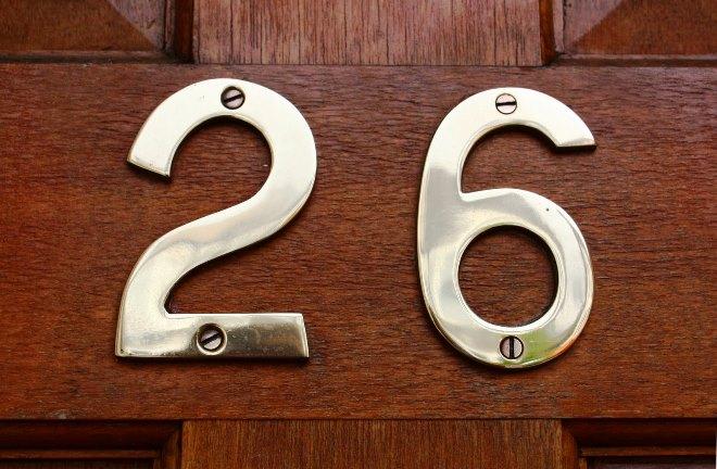 Номерок на дверь из нержавеющей стали