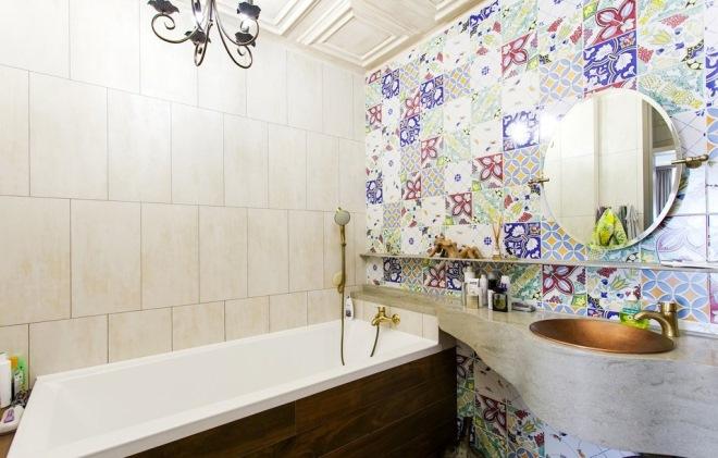 Плитка для ванной орнаментом