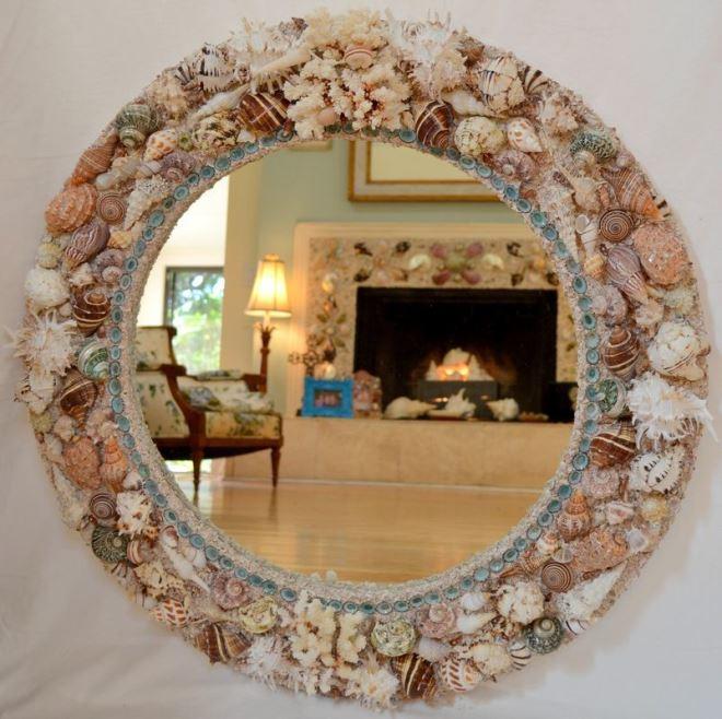 где убудет как красиво украсить зеркало своими руками фото вязаный мужской спицами