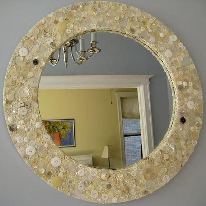 как можно оформить зеркало своими руками фото