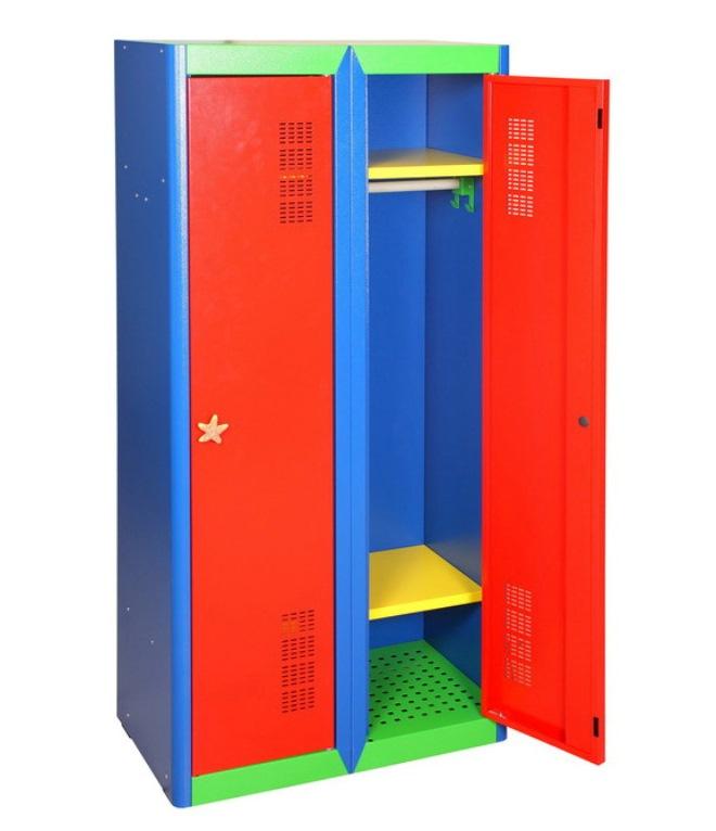 Металлический шкаф для игрушек