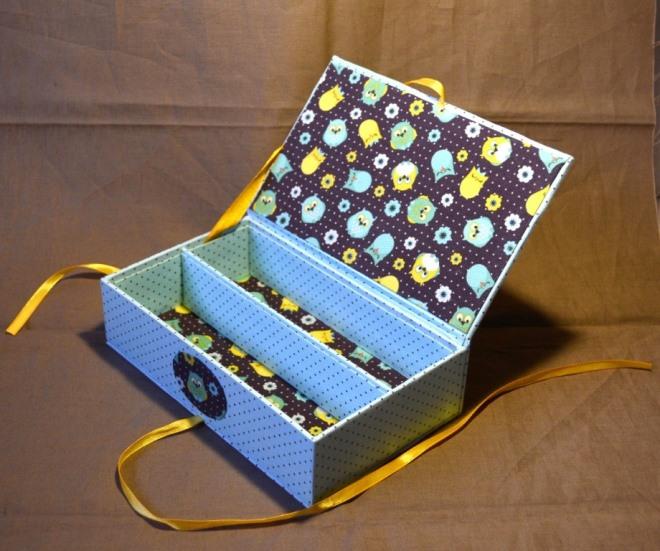 Шкатулка для украшений из коробки от обуви