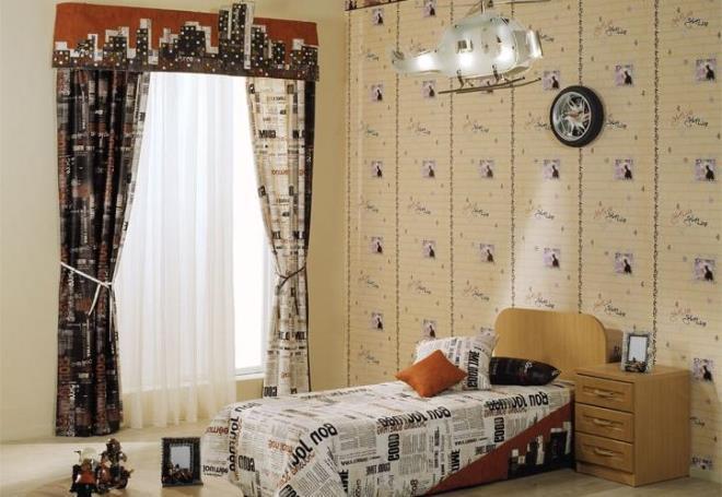 Шторы для спальни подростка