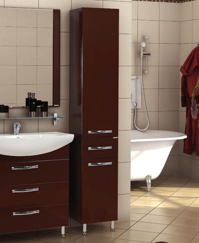 Темный шкаф в ванную