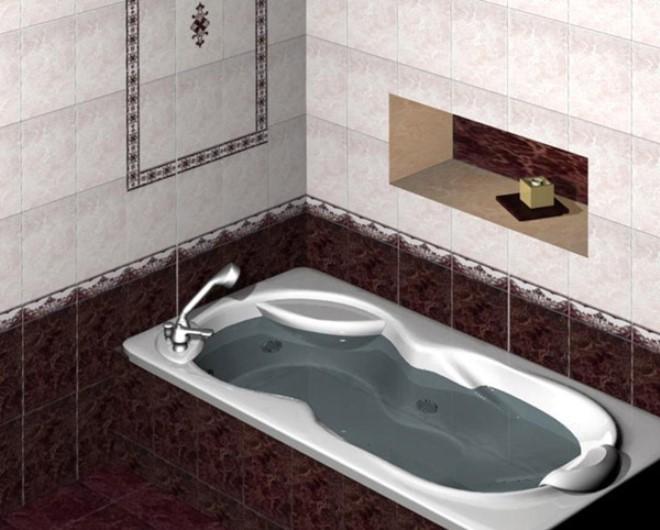Темный низ в ванной