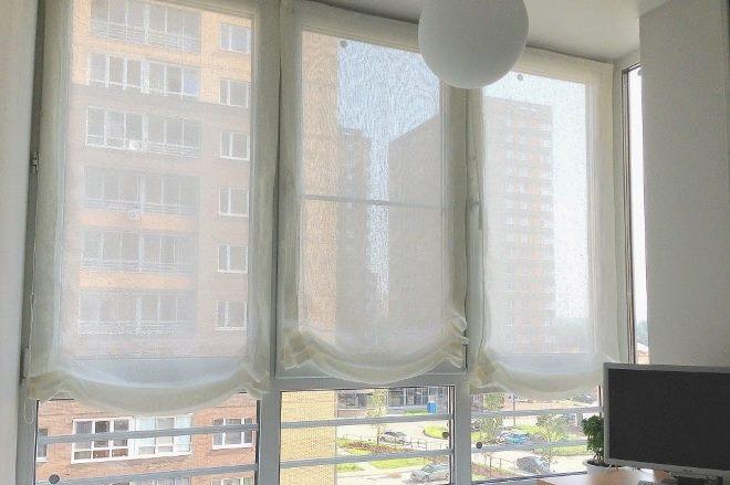 Тюль на липучке в квартире