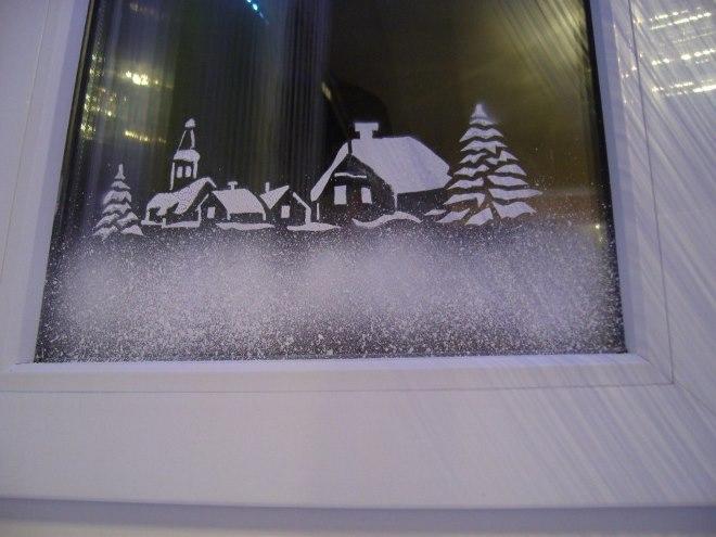 Создание рисунков на окнах своими руками