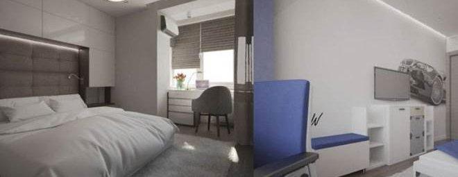 Дизайн спальни 18 кв. м