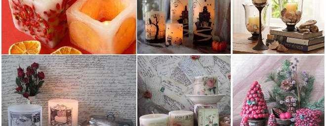 Декор свечей своими руками: модные варианты антуража для разных праздников
