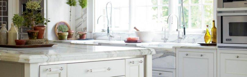 Дизайн штор для кухни с геометрическим принтом