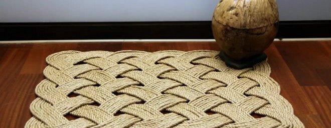 Ковры из шнура своими руками: схемы и техники
