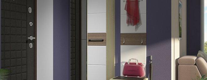 Малогабаритные прихожие в коридор в современном стиле