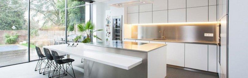 Дизайн кухни в стиле минимализм 2017