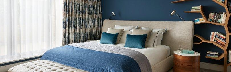 Спальня 12 кв м синяя